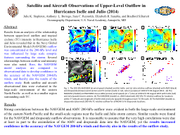 Satellite and Aircraft Observations of Upper-Level Outflow