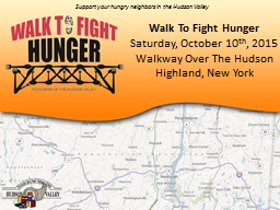 Walk To Fight Hunger PowerPoint PPT Presentation