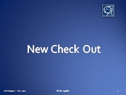 New Check Out PowerPoint PPT Presentation