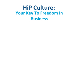 HiP  Culture: PowerPoint PPT Presentation