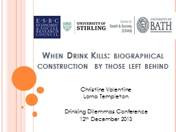 When Drink Kills: PowerPoint PPT Presentation