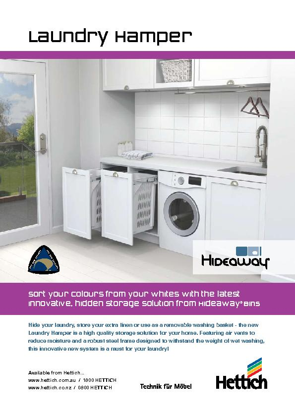 Hide your laundry, store your extra linen or use as a removable washin
