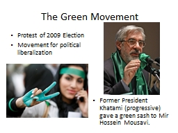 The Green Movement PowerPoint PPT Presentation