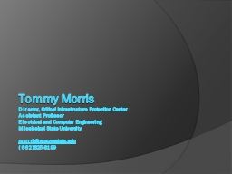 Tommy Morris PowerPoint PPT Presentation