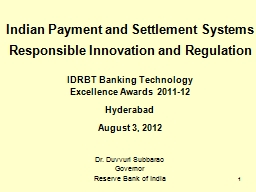 1 Indian Payment and Settlement Systems PowerPoint PPT Presentation