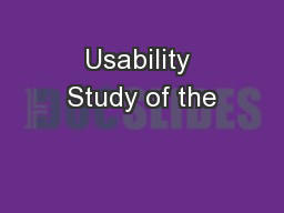 Usability Study of the