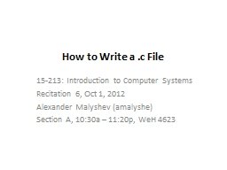 How to Write a .c File