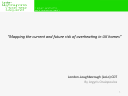 """""""Mapping the current and future risk of overheating in UK"""