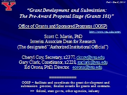 """""""Grant Development and Submission: PowerPoint PPT Presentation"""