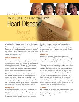 If you have heart disease or think you do theres a lot you can do to protect you PDF document - DocSlides