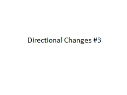 Directional Changes #3