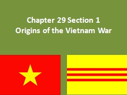 Chapter 29 Section 1 PowerPoint PPT Presentation