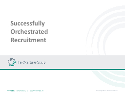 Successfully Orchestrated Recruitment