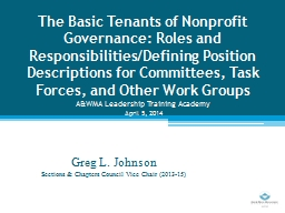 The Basic Tenants of Nonprofit Governance: Roles and Respon
