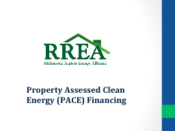 Property Assessed Clean Energy (PACE) Financing