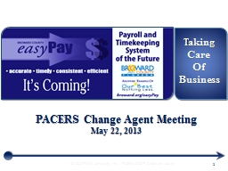 PACERS Change Agent Meeting