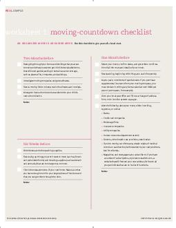 worksheet  movingcountdown checklist an organized move is an easier move