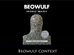 Beowulf Context