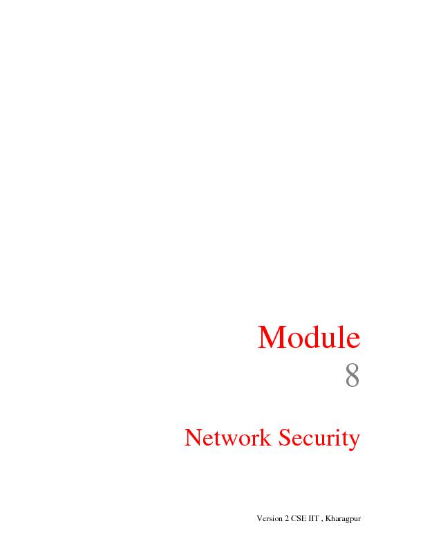 Module   Network Security