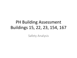 PH Building Assessment PowerPoint PPT Presentation