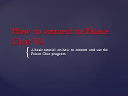 How to connect to Palace Chat V4