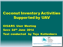 Coconut Inventory Activities Supported by UAV