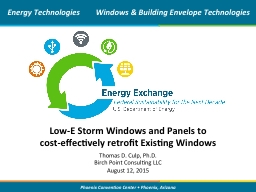 Low-E Storm Windows and Panels to
