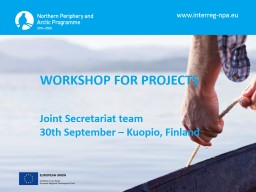 WORKSHOP FOR PROJECTS