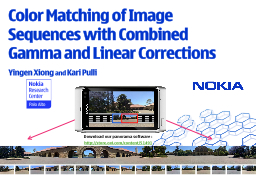 Color Matching of Image Sequences with Combined Gamma and L