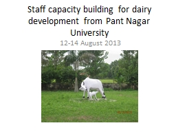 Staff capacity building for dairy development from Pant Nag