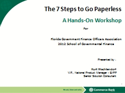 The 7 Steps to Go Paperless PowerPoint PPT Presentation