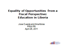 Equality of Opportunities from a Fiscal Perspective: PowerPoint PPT Presentation