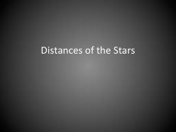 Distances of the Stars