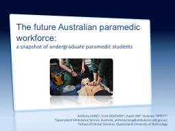 The future Australian PowerPoint PPT Presentation