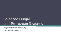 Selected Fungal PowerPoint PPT Presentation