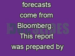 Consensus forecasts come from Bloomberg.  This report was prepared by