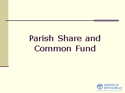 Parish Share and Common Fund