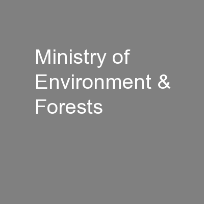 Ministry of Environment & Forests