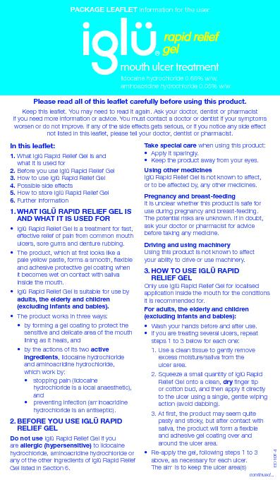 Please read all of this leaflet carefully before using this product.