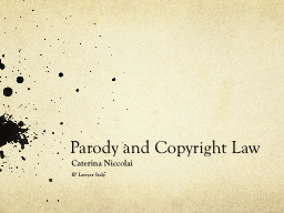 Parody and Copyright Law