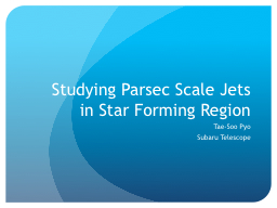 Studying Parsec Scale Jets
