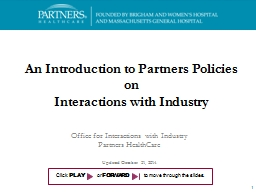 An Introduction to Partners Policies on