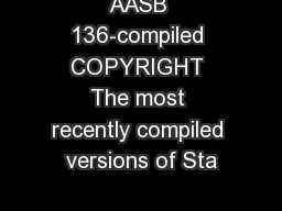 AASB 136-compiled COPYRIGHT The most recently compiled versions of Sta