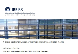 A Cross-Sectional Model of German High-Street Retail Rents