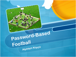 Password-Based Football PowerPoint PPT Presentation