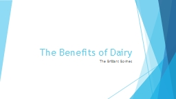 The Benefits of Dairy