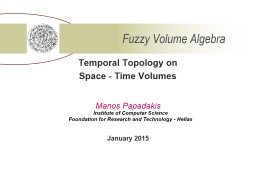 Temporal Topology on