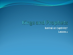 Kings and Prophets PowerPoint PPT Presentation