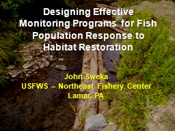Designing Effective Monitoring Programs for Fish Population