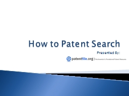 How to Patent Search
